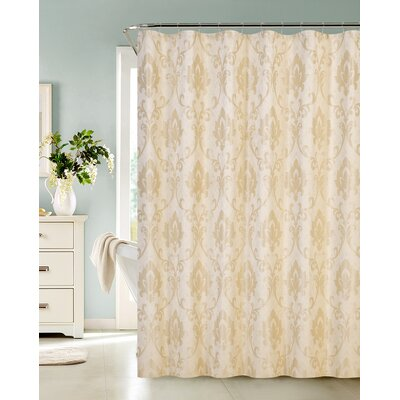 Thorpe Shower Curtain Color: Champagne