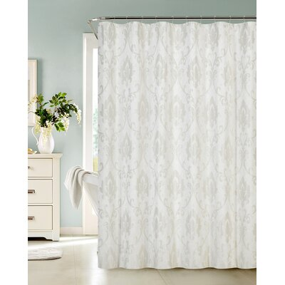 Vienna Shower Curtain Color: Ivory