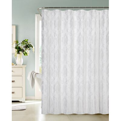 Vienna Shower Curtain Color: White