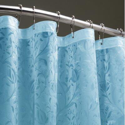 Floral 3D Shower Liner Color: Blue