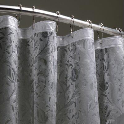 Floral 3D Shower Liner Color: Black