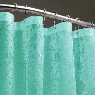 Floral 3D Shower Liner Color: Ocean