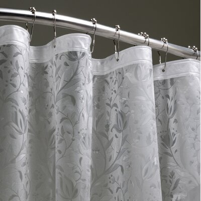 Floral 3D Shower Liner	 Color: Silver