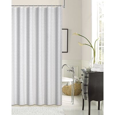 Kingston Shower Curtain Color: White