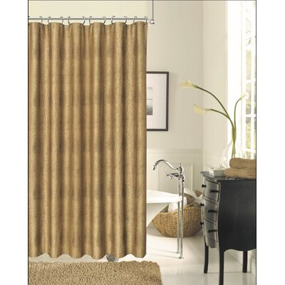 Sophia Shower Curtain Color: Bronze
