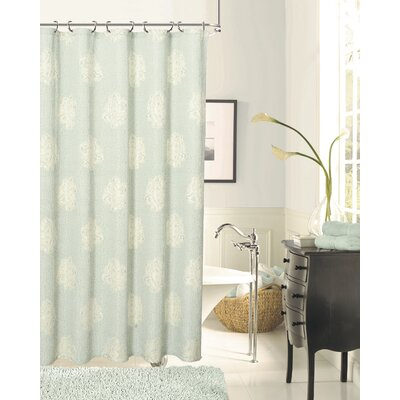 Grassmere Rose Shower Curtain Color: Aqua