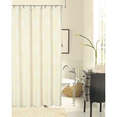 Grassmere Rose Shower Curtain Color: Natural