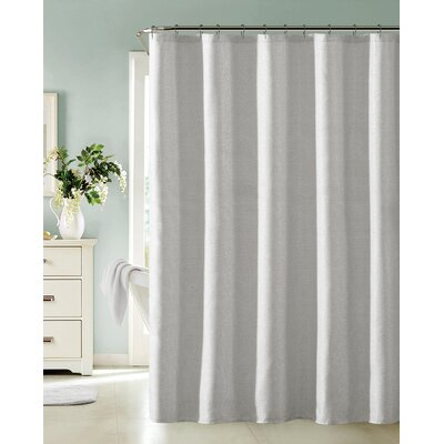 Bentley Shower Curtain Color: Silver