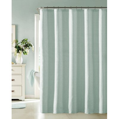 Bentley Shower Curtain Color: Blue