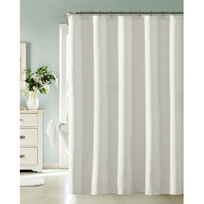 Bentley Shower Curtain Color: White