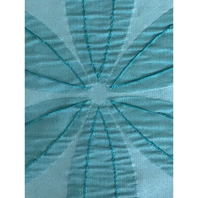 Iris Fabric Shower Curtain Color: Aqua
