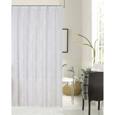 Hoagland Embroidered Fabric Shower Curtain