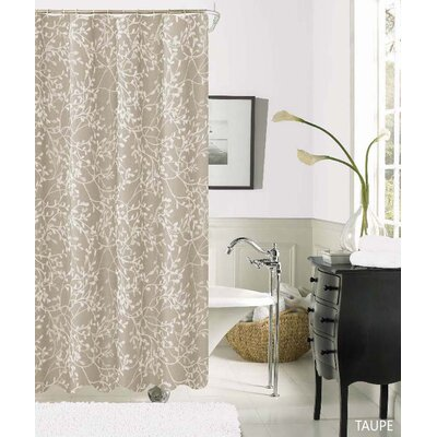 Horsham Printed Fabric Shower Curtain Color: Taupe