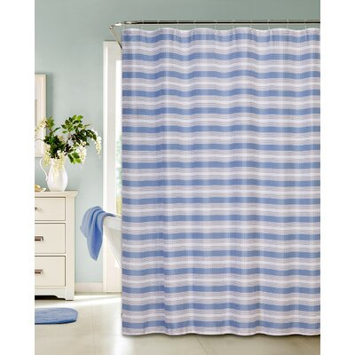 Ellsberg Classic Stripe Printed Fabric Shower Curtain