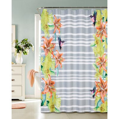 Niantic Printed Waffle Shower Curtain
