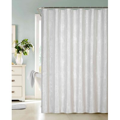 Cantor Embroidered Shower Curtain Color: Ivory