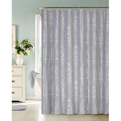 Larocco Jacquard Fabric Shower Curtain