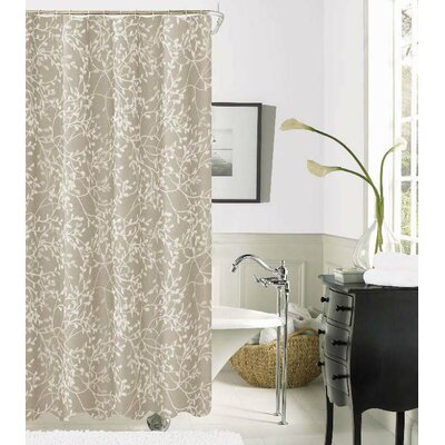 Orland Printed Fabric Shower Curtain Color: Taupe