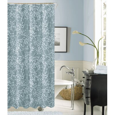 Orland Printed Fabric Shower Curtain Color: Blue