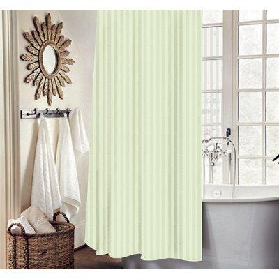 Carson Stripe Shower Curtain Set Color: Ivory