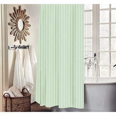 Carson Stripe Shower Curtain Set Color: Sage