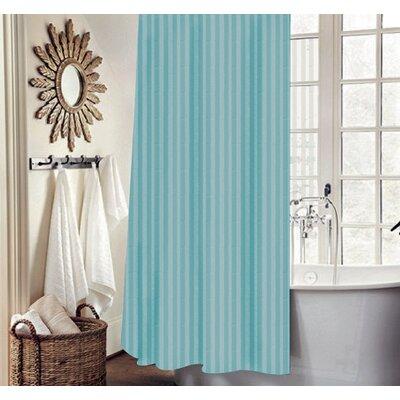 Carson Stripe Shower Curtain Set Color: Turquoise