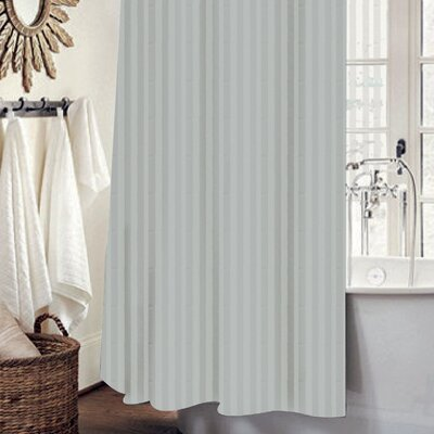 Mist 13 Piece Shower Curtain Set Color: Silver
