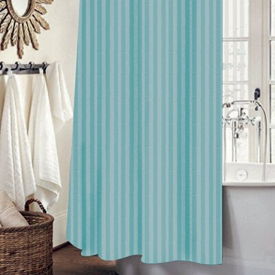 Mist 13 Piece Shower Curtain Set Color: Turquoise
