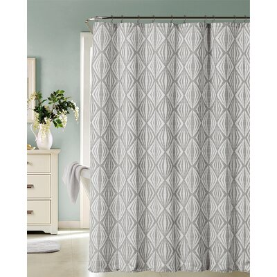 Carmon Shower Curtain Color: Silver