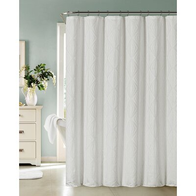 Carmon Shower Curtain Color: White