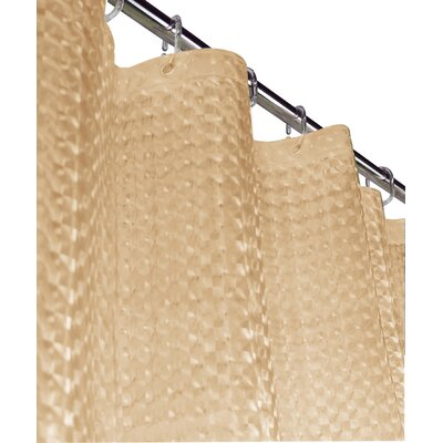 Rogerson 3D Vinyl Shower Curtain Color: Beige
