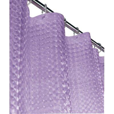 Rogerson 3D Vinyl Shower Curtain Color: Lilac