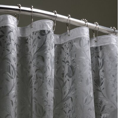 Elkland 3D Vinyl Shower Curtain Color: Black