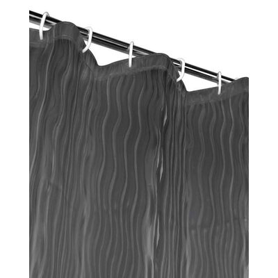 Berriman Shower Curtain Color: Black