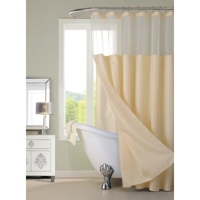 Guerrero Vinyl Shower Curtain with Detachable Liner Color: Ivory