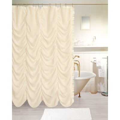 Adria New Theater Fabric Shower Curtain Color: Ivory