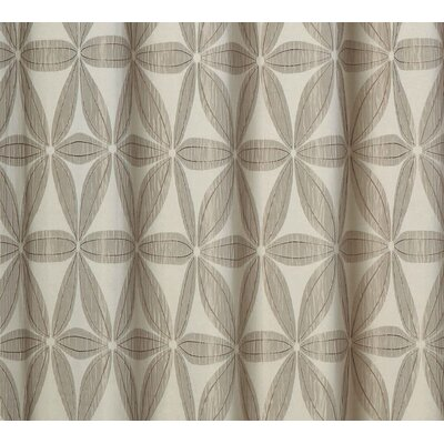 Tuyet Heavy Jacquard Shower Curtain Color: Taupe