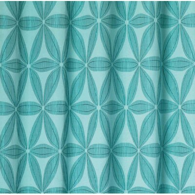 Tuyet Heavy Jacquard Shower Curtain Color: Aqua