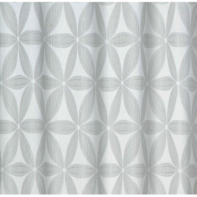 Tuyet Heavy Jacquard Shower Curtain Color: Silver