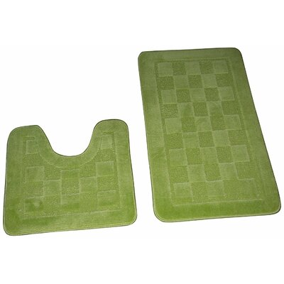 Hobert 3 Piece Solid Bath Rug Set Color: Sage