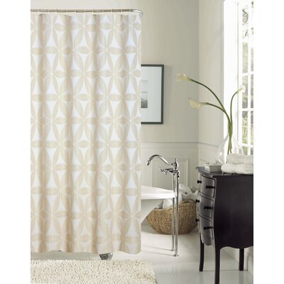 Tuyet Heavy Jacquard Shower Curtain Color: Ivory