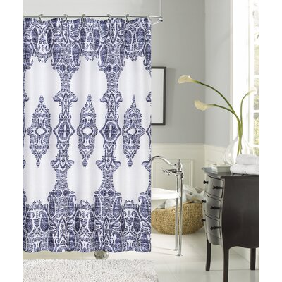Maleah Linen Look Shower Curtain