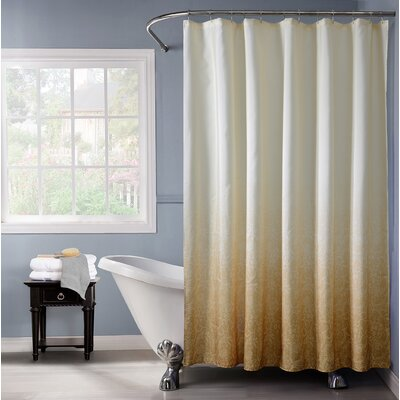 Arushi Ombre Fabric Shower Curtain Color: Gold