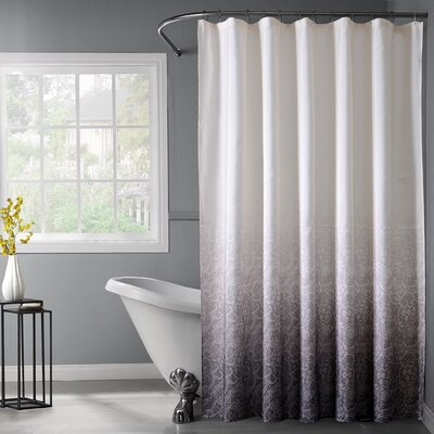 Otelia Lace Ombre Shower Curtain Color: Black