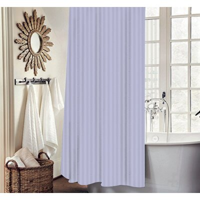 Carson Stripe Shower Curtain Set Color: Lilac