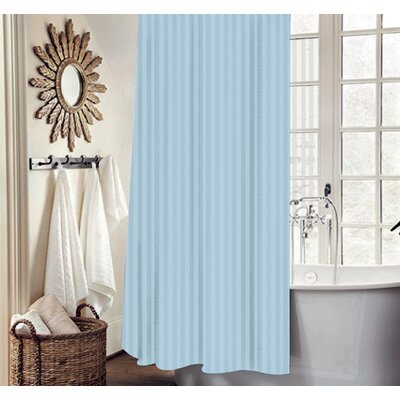 Carson Stripe Shower Curtain Set Color: Ocean