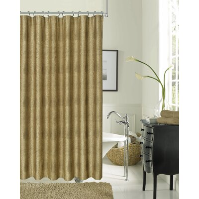 Drury Textured Shower Curtain Color: Bronze
