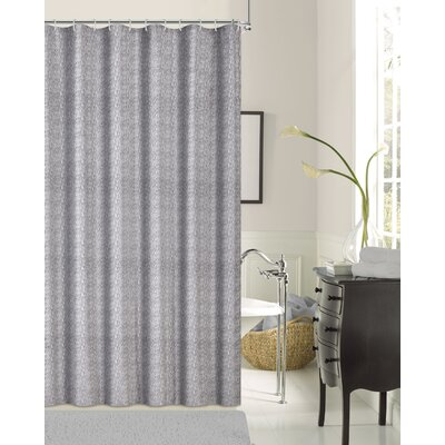 Pinellas Shower Curtain Color: Silver