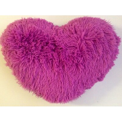 Asellus Heart Shaped Throw Pillow Color: Lilac