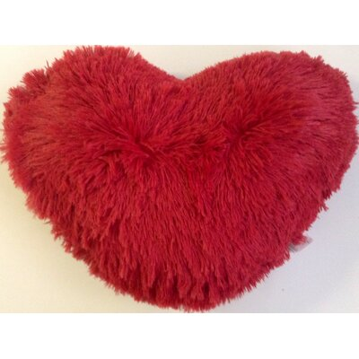 Asellus Heart Shaped Throw Pillow Color: Red